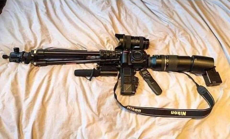 L'arme d'attaque du photographe.